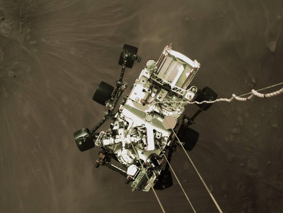パーサビアランスが火星着陸に成功、映像と「音」を公開