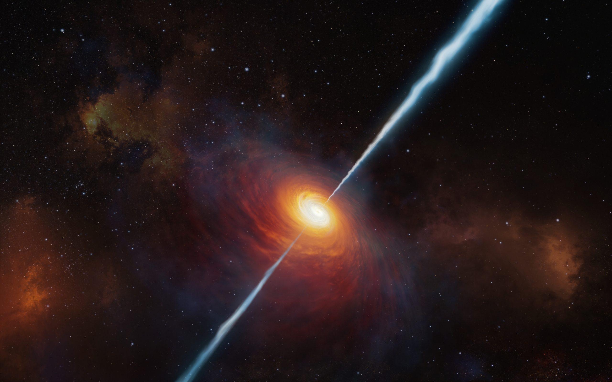 宇宙ジェットが巨大ブラックホールの成長を促進、国際天文チーム