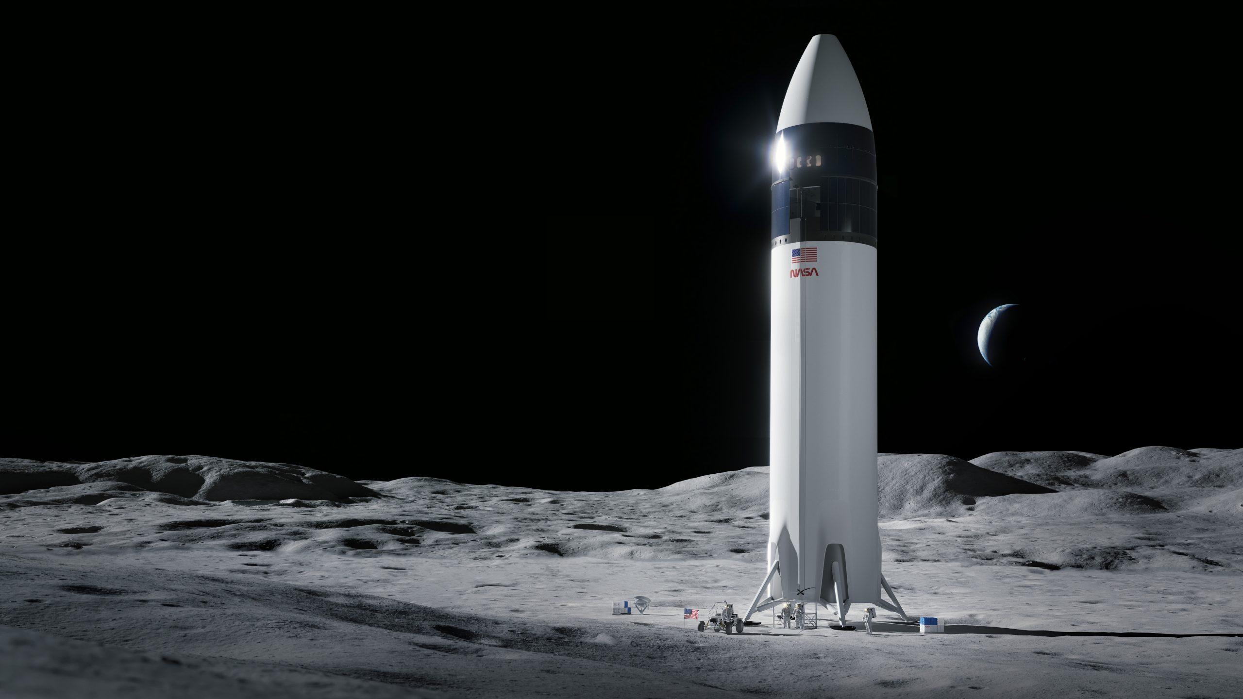 50年ぶりの月面再訪にスペースXの着陸船 ライバル逆転