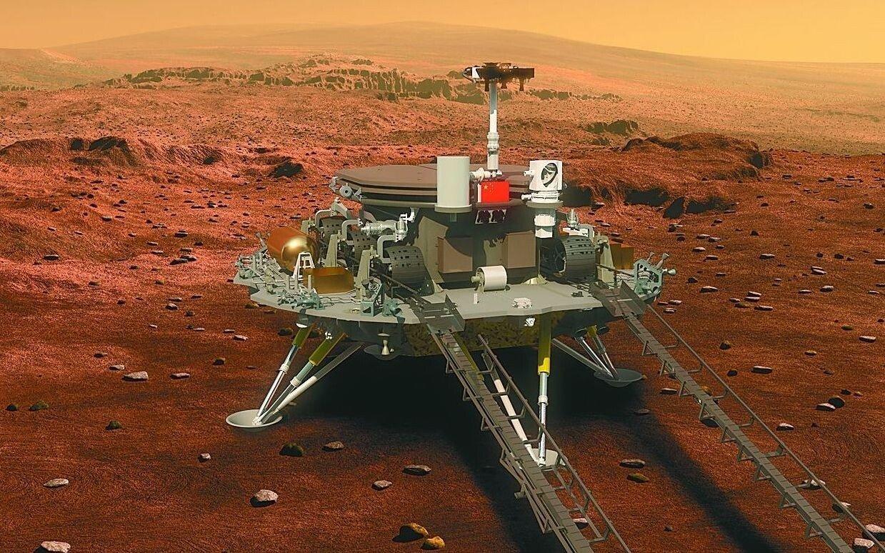 中国の探査車が火星着陸に成功 宇宙大国としての地位を確立