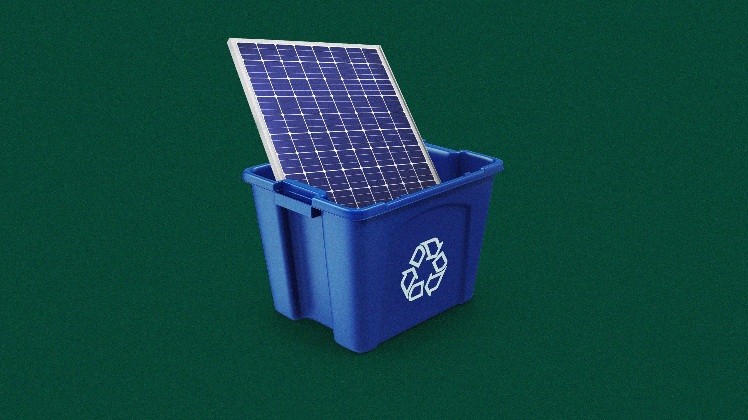 太陽光パネルのゴミ問題、「リサイクル」スタートアップに脚光